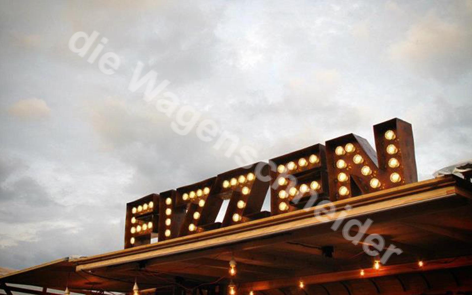 Leuchtbuchstaben im Vintage-Style als Einzelbuchstaben..